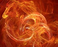 Fire abstract. Fractal fire abstract composition - computer illustration Royalty Free Stock Photography
