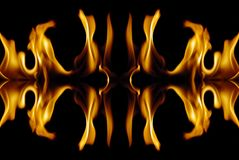Fire abstract Stock Image