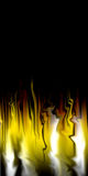 Fire abstract background. A computer generated image of fire shapes in an abstract pattern making a background effect Stock Images