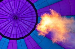Fire and Abstract of purple balloon Stock Photo