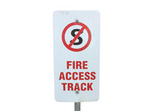 Fire access track sign Royalty Free Stock Photography