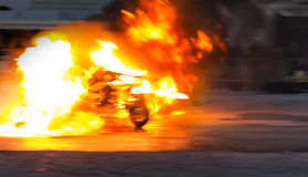 Fire accident Royalty Free Stock Image