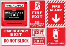 Fire action. Safety first. easy to modify Royalty Free Stock Image