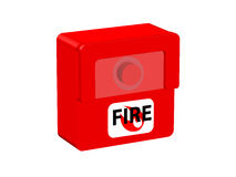 Fire alarm. Batton under protected glass Stock Images