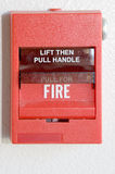 Fire Alarm. On wall of building Royalty Free Stock Photos
