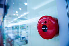 Fire alarm. On the wall of shopping center Royalty Free Stock Images