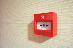 Fire alarm. On a wall Stock Images