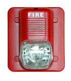 Fire Alarm. Isolated over a white background stock photo
