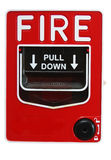 Fire Alarm. A bright red fire alarm lever Royalty Free Stock Photo