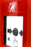 Fire Alarm. Button. Shallow dept of field. Focus is on button Stock Images