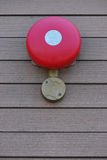 Fire Alarm Bell. A photo taken on a fire alarm bell on a wall stock images