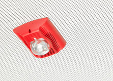 Fire alarm bell on ceiling in the office workplace. Fire alarm bell on ceiling type in the office workplace Royalty Free Stock Photo