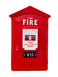 Fire alarm box isolated Royalty Free Stock Images