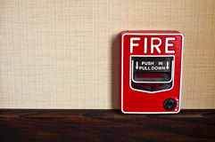 Fire Alarm Box. Many buildings have manual fire alarm boxes. There is room for your copy on the left side Royalty Free Stock Image
