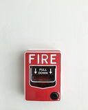 Fire alarm box. Royalty Free Stock Images