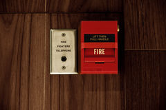 Fire Alarm Box Stock Images