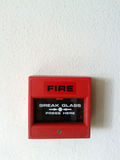 Fire alarm boxes Stock Images