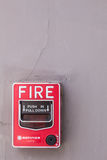 Fire alarm on the building. Royalty Free Stock Photography