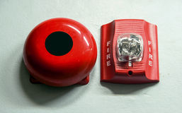 A fire alarm with built in strobe light to alert in case of fire Royalty Free Stock Image