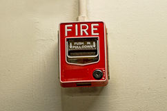 Fire alarm button. Stock Photography