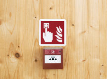 Fire alarm button Royalty Free Stock Photo