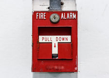 The fire alarm button Royalty Free Stock Photos