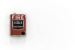 The fire alarm button Stock Images