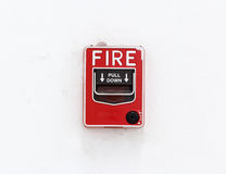 The fire alarm button Royalty Free Stock Image