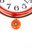 Fire alarm with clock Royalty Free Stock Image