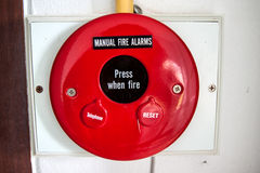 Fire alarm. For communication and warning Stock Photo