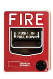 Fire Alarm Control Switch. On White Background Stock Image