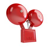 Fire alarm on a white background. Fire alarm 3d Illustrations on a white background Royalty Free Stock Photography