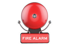 Fire Alarm, 3D rendering. Isolated on white background Royalty Free Stock Photos