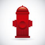 Fire alarm design. Vector illustration Royalty Free Stock Photos