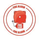 Fire alarm design. Vector illustration Royalty Free Stock Images