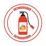 Fire alarm design. Vector illustration Stock Image