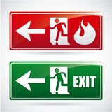 Fire alarm design. Vector illustration Stock Photography