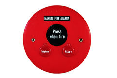 Fire alarm emergency. Equipment machine stock photo