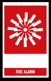Fire alarm emergency signs. And symbols Stock Photos