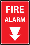 Fire alarm emergency signs. And symbols.Vector illustration Royalty Free Stock Photo