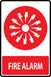 Fire alarm emergency signs. And symbols.Vector illustration Royalty Free Stock Images
