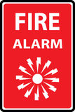 Fire alarm emergency signs. And symbols.Vector illustration Stock Image