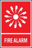 Fire alarm emergency signs. And symbols.Vector illustration Royalty Free Stock Photography