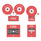 Fire alarm flat icon. Fire alarm vector illustration isolated on white background Royalty Free Stock Photo