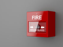 Fire alarm. On gray wall Royalty Free Stock Photo