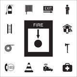 Fire alarm icon. Detailed set of fire guard icons. Premium quality graphic design sign. One of the collection icons for websites,. Web design, mobile app on Stock Image