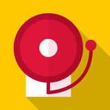 Fire alarm icon, flat style. Fire alarm icon. Flat illustration of fire alarm vector icon for web Stock Image