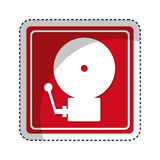 Fire alarm isolated icon. Illustration design Stock Images