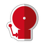Fire alarm isolated icon. Illustration design Stock Image