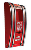 Fire Alarm Isolated. Is an illustration of a red pull type fire alarm that is common in public buildings such as schools Royalty Free Stock Images